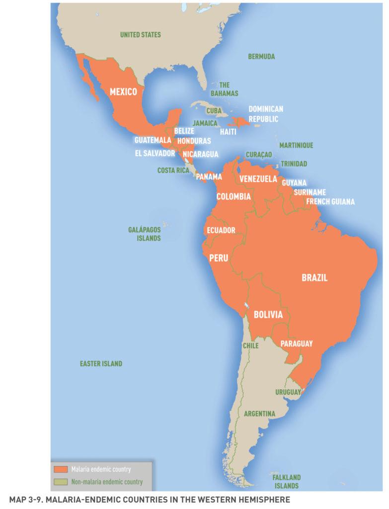 Obszary endemiczne malarii