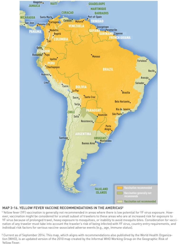 Obszary endemiczne żółtej febry